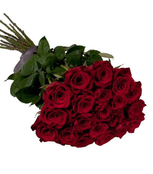 21 pikka punast roosi