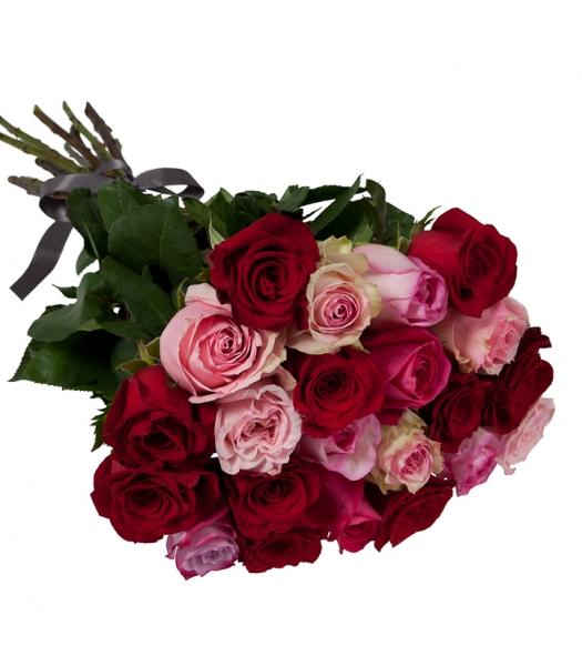 Roosad ja punased roosid