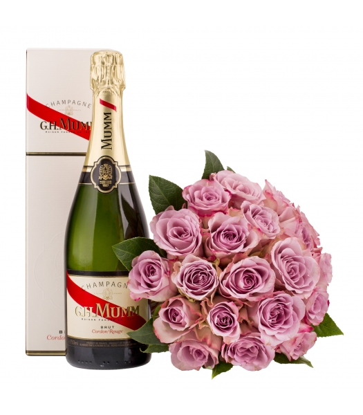 Lilla roosikimp šampanjaga