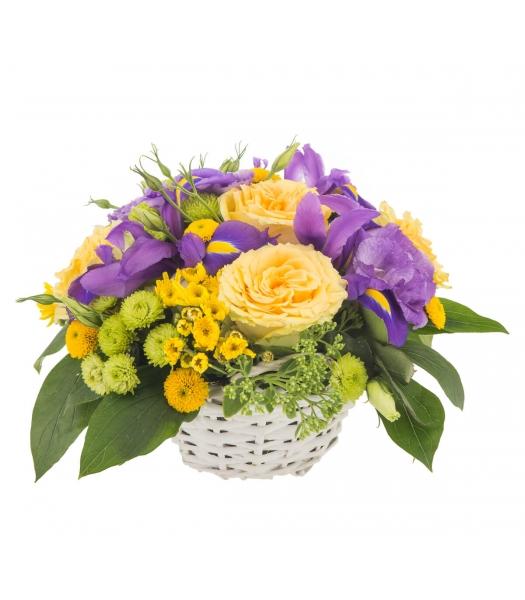 Rõõmus lillekorv