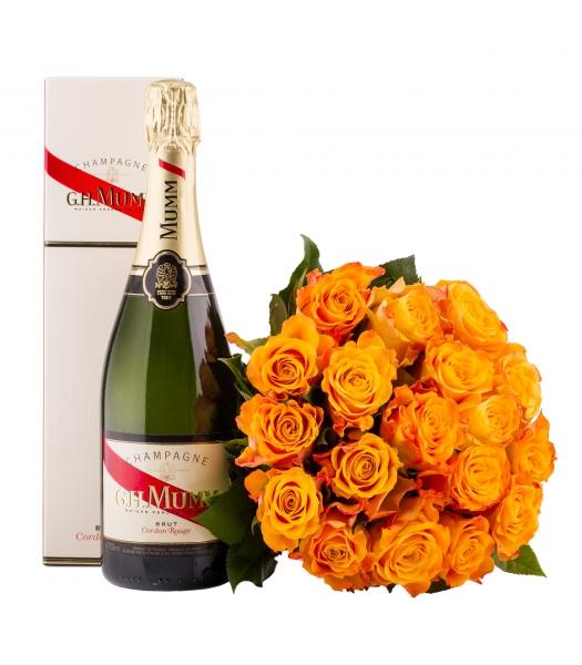 Oranž roosikimp šampanjaga