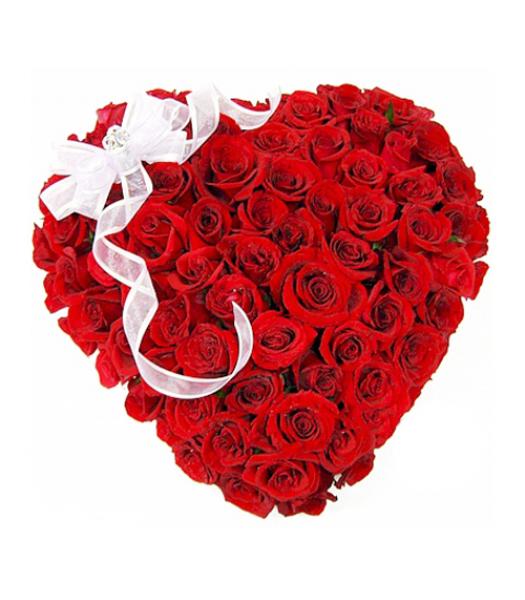 Punane roosisüda lipsukesega