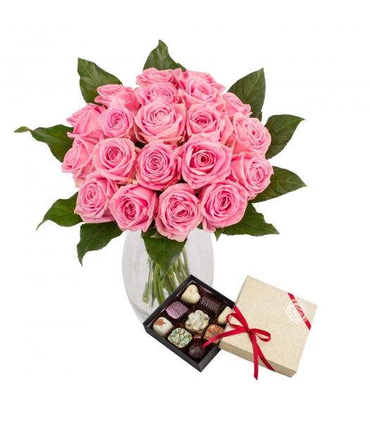Roosa roosikimp kommikarbiga