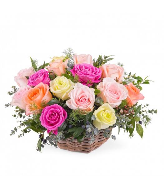 Värviline roosikorv
